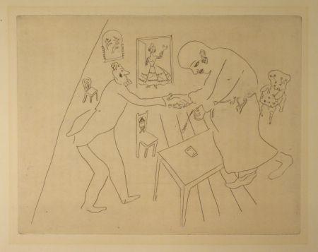Aguafuerte Chagall - (Nicolas Gogol, Les Ames Mortes,12)