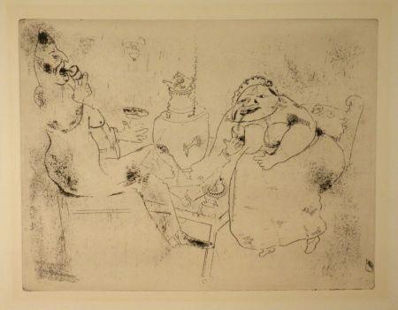 Aguafuerte Chagall - (Nicolas Gogol, Les Ames Mortes, 18)