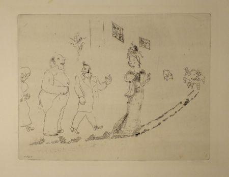 Aguafuerte Chagall - (Nicolas Gogol, Les Ames Mortes, 34)