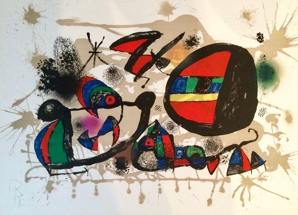 Litografía Miró - Nid D'alouettes