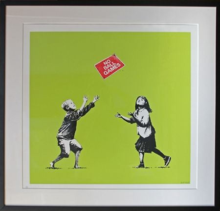 Serigrafía Banksy - No Ball Games (Green)