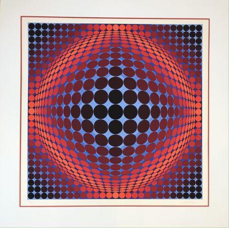 Litografía Vasarely - Nobel 7