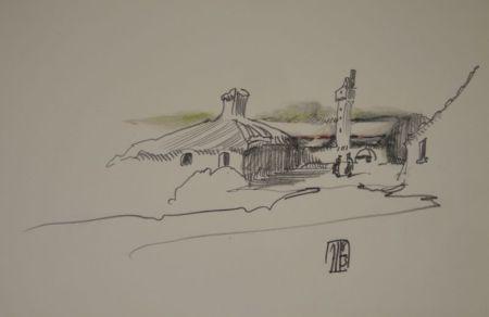 Sin Técnico Janssen - (Nordische Landschaft mit Gebäuden, Turm und zwei Personen)
