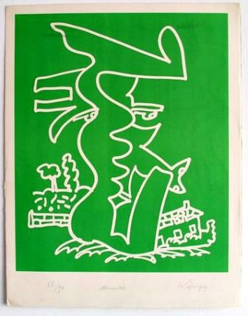 Litografía Lapicque - Normandie