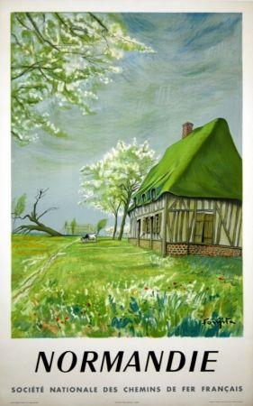 Litografía Foujita - Normandie Bretagne