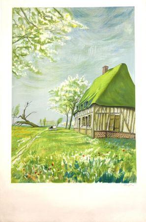 Litografía Foujita - Normandie  Epreuve d'Artiste