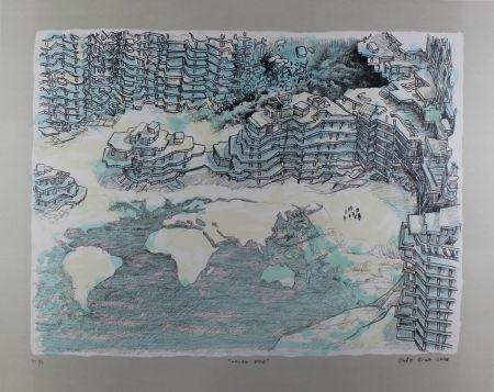 Litografía Oiwa - North Pole