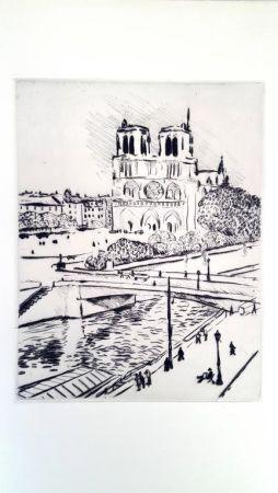 Litografía Marquet - Notre Dame