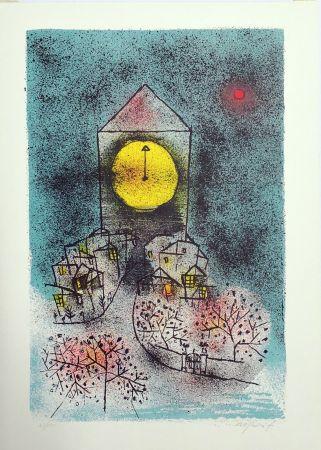 Litografía Rognoni - Notturno