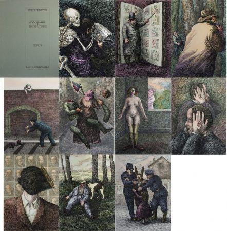 Litografía Topor - Nouvelles en 3 lignes