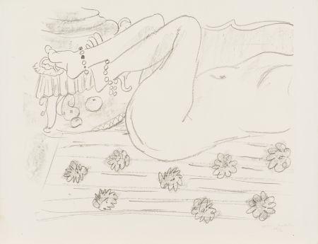 Litografía Matisse - Nu. Étude d'un mouvement de jambes