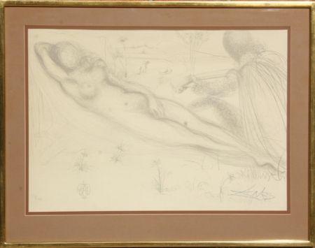 Litografía Dali - Nu a la Guitarre (Serenade) from the Nudes Suite