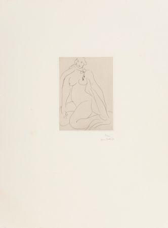 Grabado Matisse - Nu Accroupi, Une Cordeliere Nouee Autour du Cou