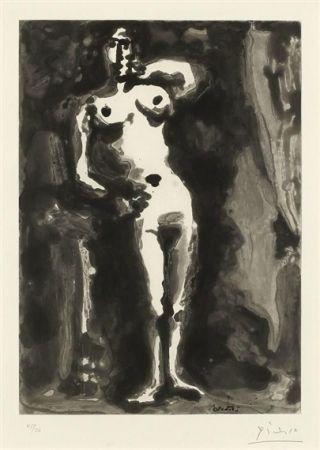 Aguatinta Picasso - Nu accudé, from Sable Mouvant