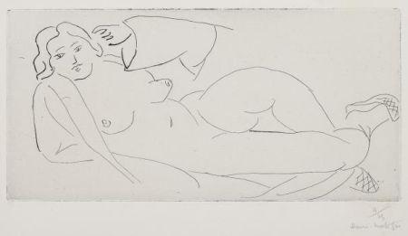 Grabado Matisse - Nu Allongé, Aux Babouches De Paille Tressée