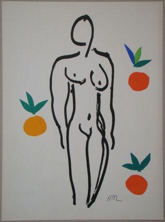 Litografía Matisse - Nu aux oranges