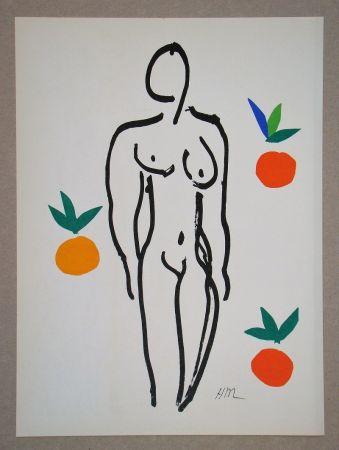 Litografía Matisse (After) - Nu Aux Oranges - 1953