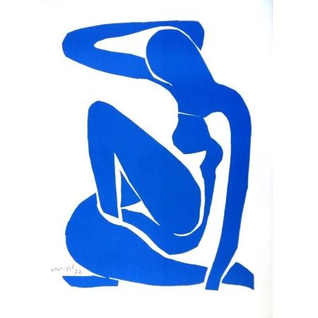 Litografía Matisse - Nu Bleu