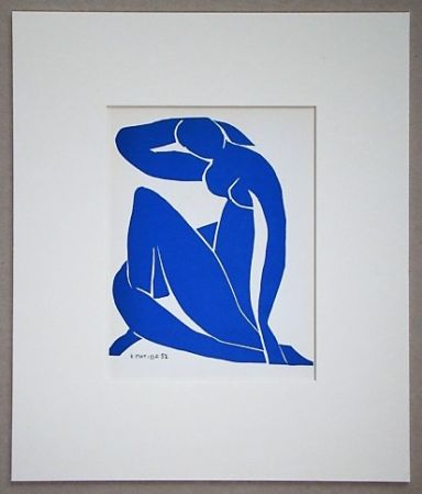 Litografía Matisse (After) - Nu bleu - 1952