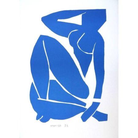 Litografía Matisse - Nu Bleu assise