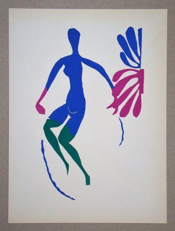 Litografía Matisse (After) - Nu bleu avec des bas verts - 1952