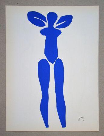 Litografía Matisse (After) - Nu bleu debout - 1952