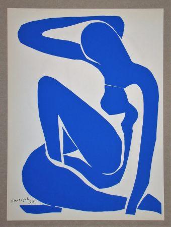 Litografía Matisse (After) - Nu bleu I.-1952