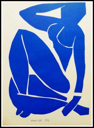 Litografía Matisse (After) - NU BLEU I