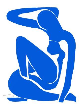 Litografía Matisse - Nu Bleu I (Blue Nude I)