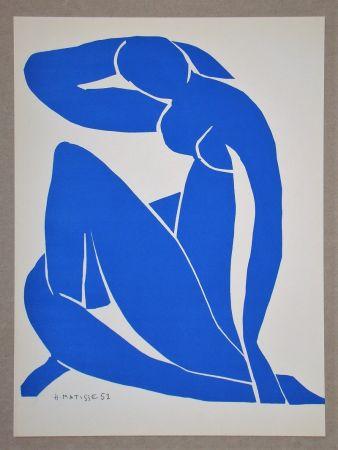 Litografía Matisse (After) - Nu bleu II.-1952