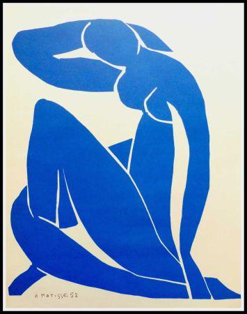 Litografía Matisse (After) - NU BLEU II