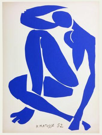 Litografía Matisse - Nu Bleu IV (1958)