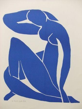 Litografía Matisse - Nu bleu(II)
