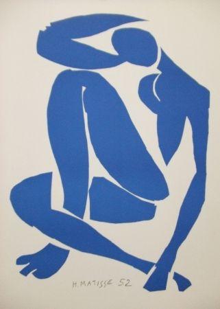 Litografía Matisse - Nu bleu(IV)