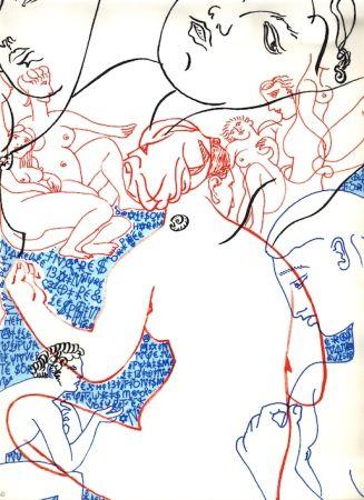 Litografía Villeglé - Nu (collection Naked)