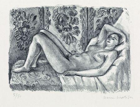 Litografía Matisse - Nu couché au paravant Louis XIV