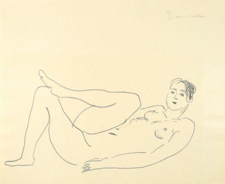 Litografía Matisse - Nu couché, jambe repliée - Étude de jambes