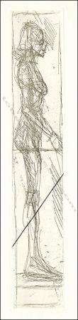 Aguafuerte Giacometti - Nu De Profil.