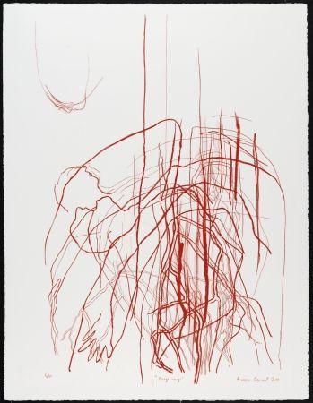 Litografía Cozannet - Nuage rouge