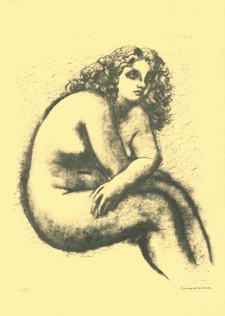 Litografía Messina - Nude