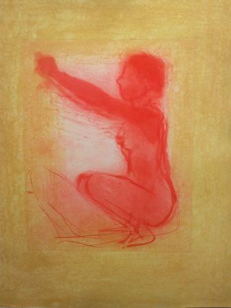 Litografía Garache - Nude