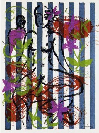 Serigrafía Szczesny - Nude in Jericho Garden