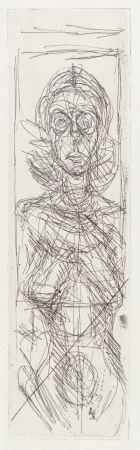 Grabado Giacometti - Nude in Profile