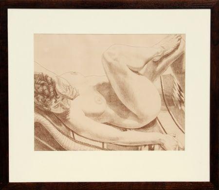 Litografía Pearlstein - Nude on Chair