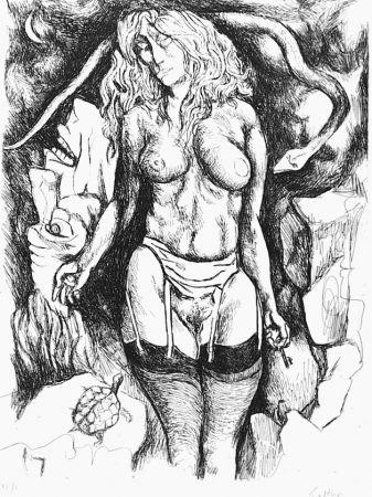 Aguafuerte Guttuso - Nudo