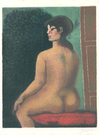 Litografía Gentilini - Nudo di Luisa