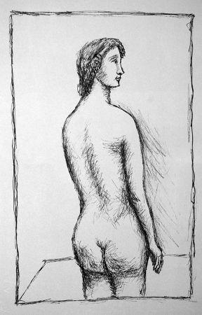 Litografía Carra - Nudo di schiena