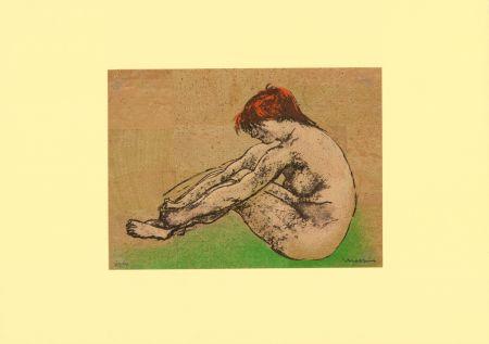 Litografía Messina - Nudo / Nude