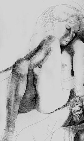 Aguafuerte Greco - Nudo seduto