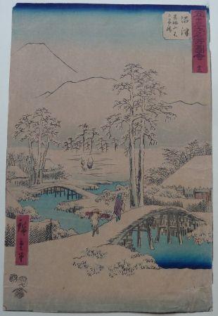 Grabado En Madera Hiroshige - Numazu